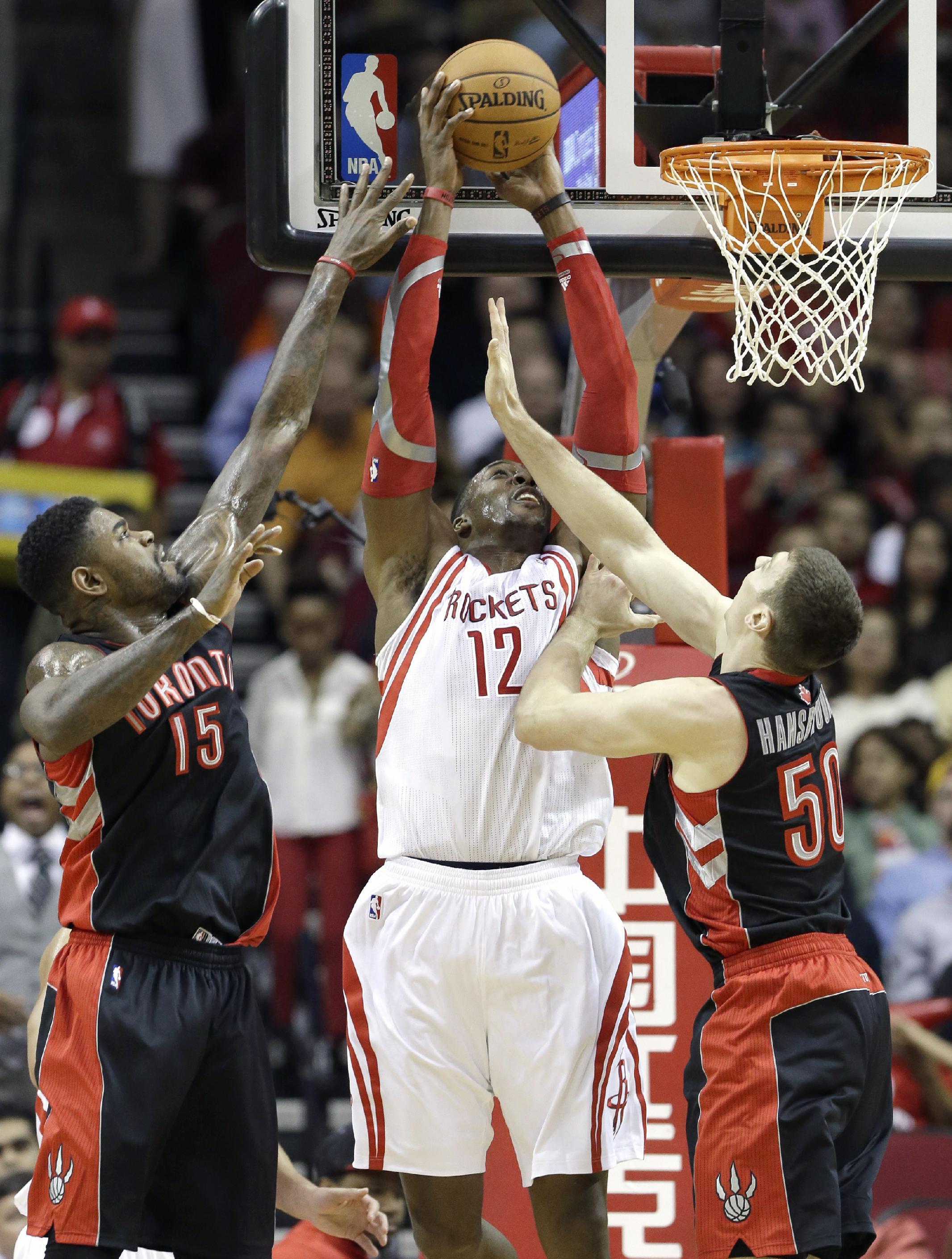 Rockets outlast Raptors 110-104 in 2 OTs