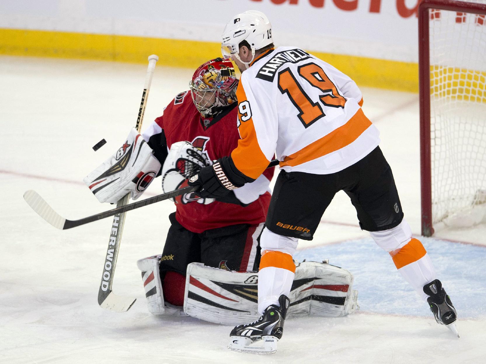 Flyers shut out Senators 5-0