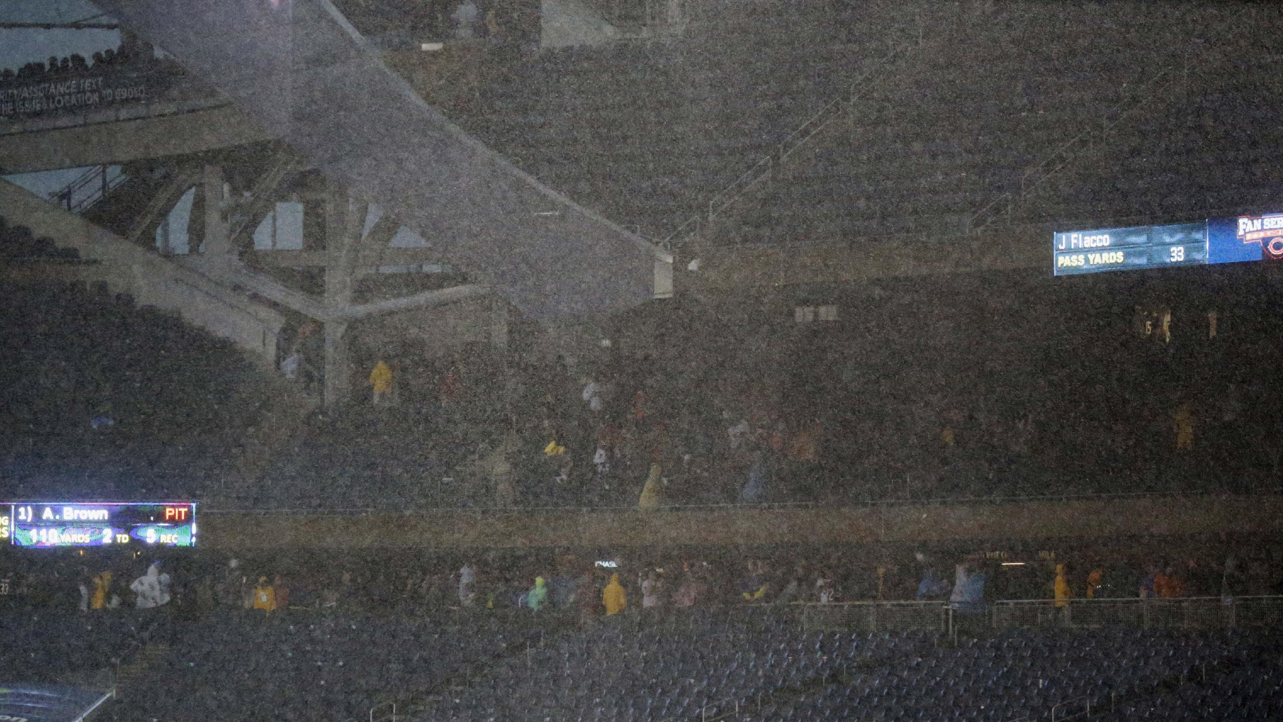 Day after storm, NFL determined to put fans first