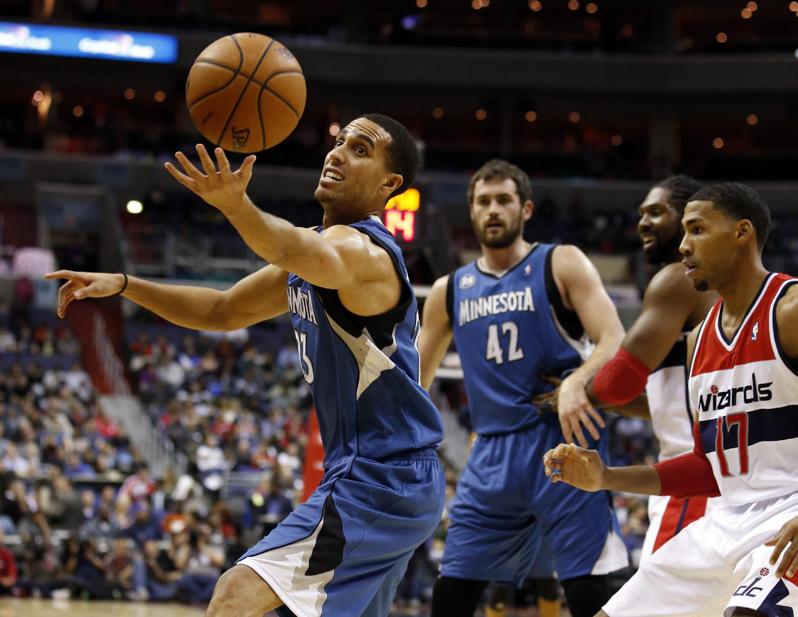 Beal, Wall help Wizards beat Wolves 104-100