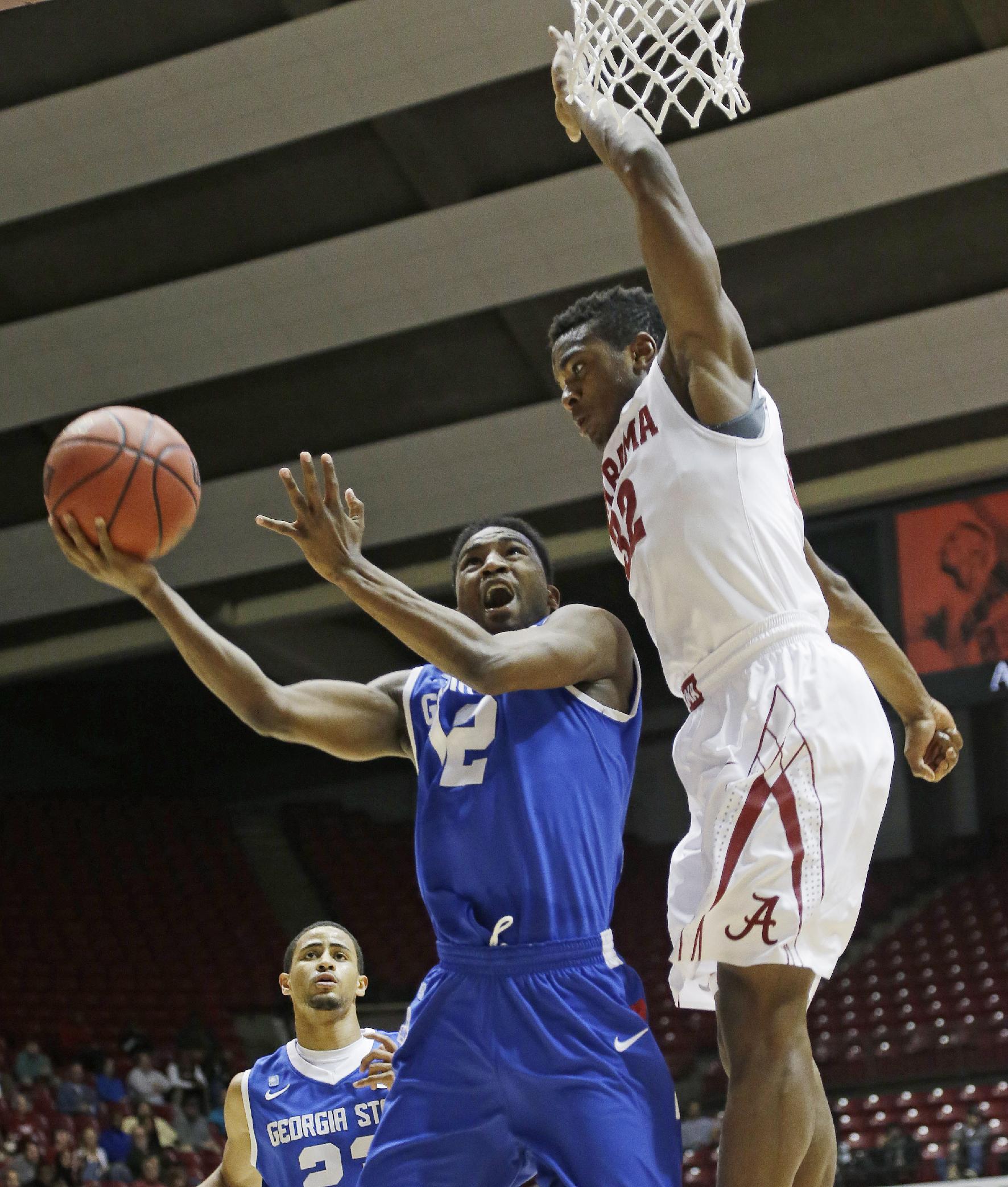 Alabama defeats Georgia State 75-58