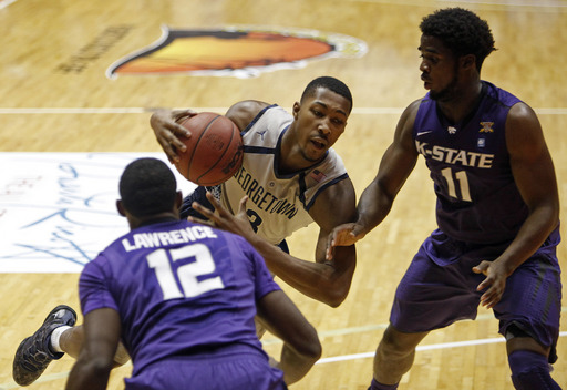Georgetown bounces back, pounds Kansas State 90-63