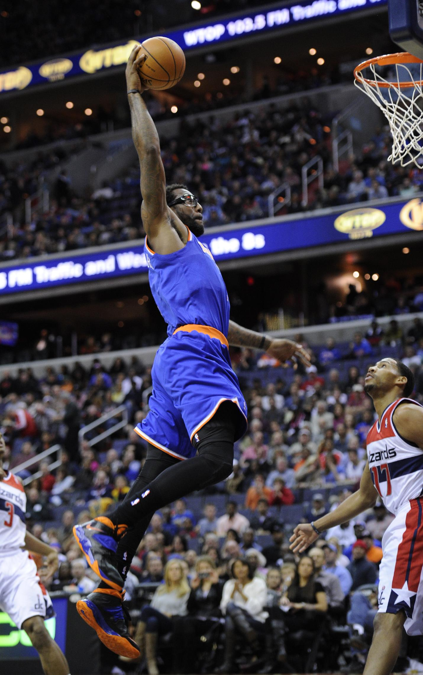 Wall's 31 points help Wizards beat Knicks 98-89