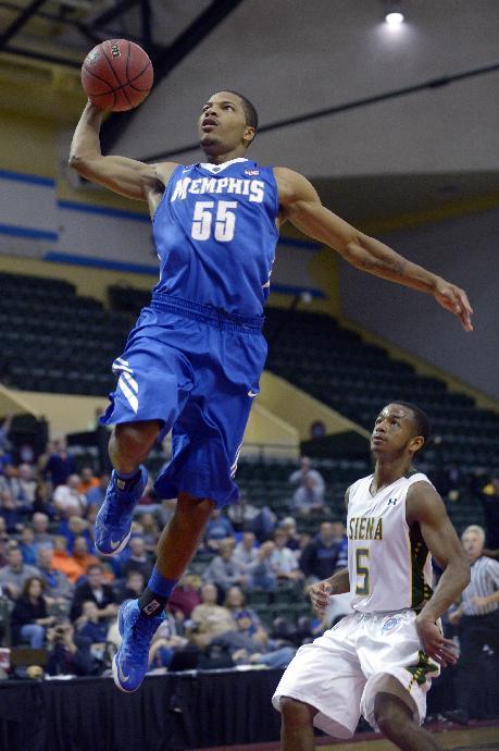 Jackson scores 18, No. 21 Memphis tops Siena 87-60