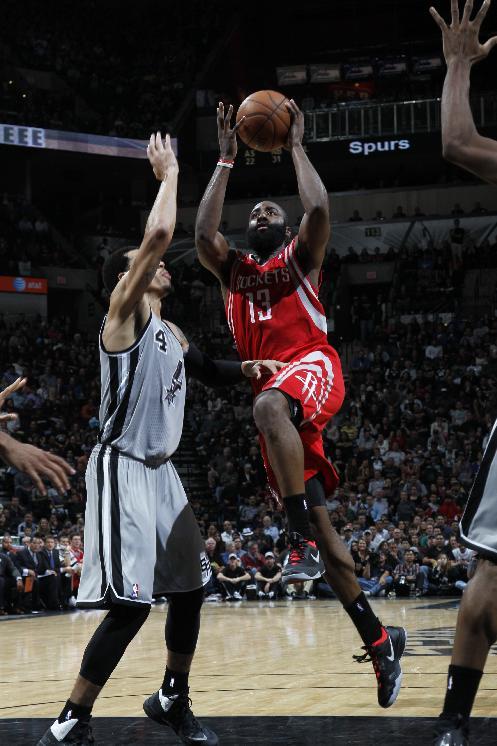 Rockets hand Spurs 1st home loss, 112-106