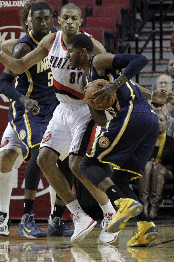 Aldridge, Blazers overcome Pacers 106-102