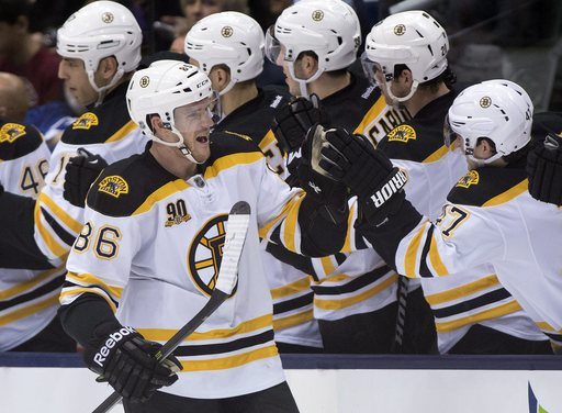 Bruins topple Maple Leafs 5-2