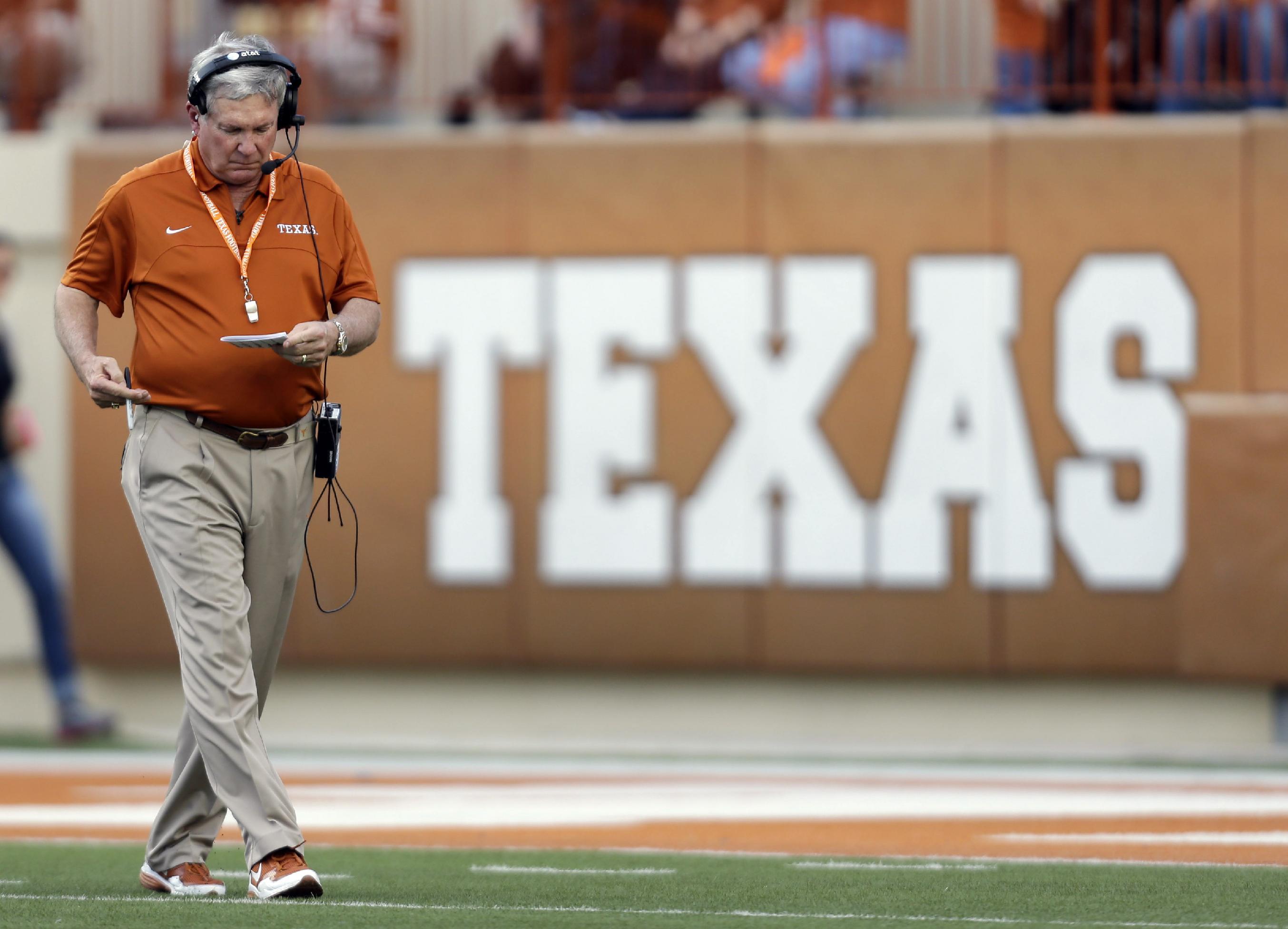 Texas coach Mack Brown steps down