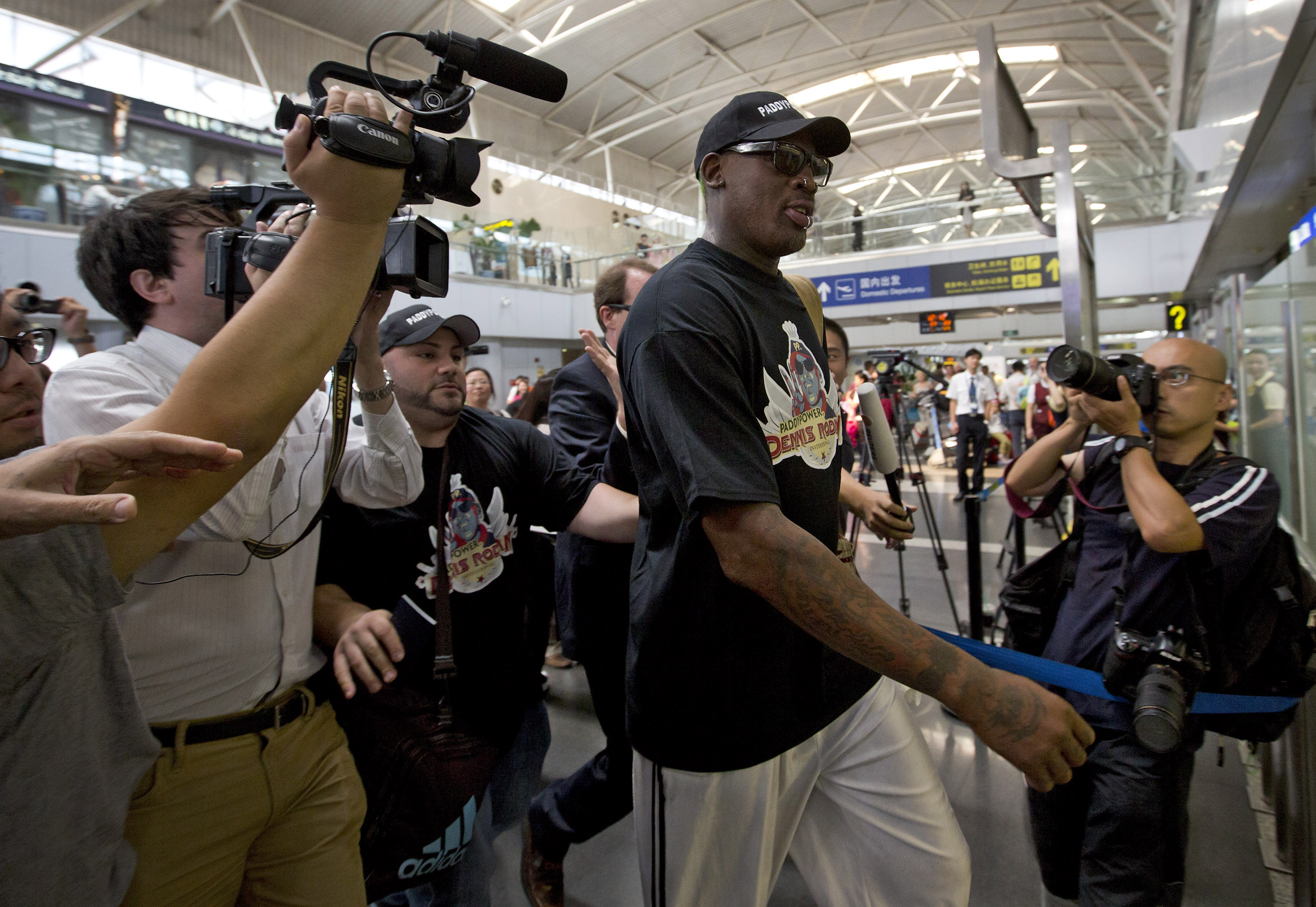 Rodman in NKorea to prep for game on leader's Bday