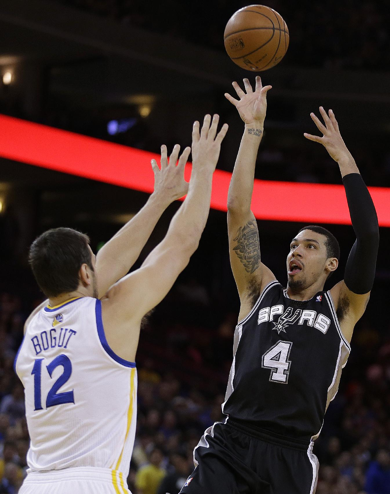 Short-handed Spurs outlast Warriors, 104-102
