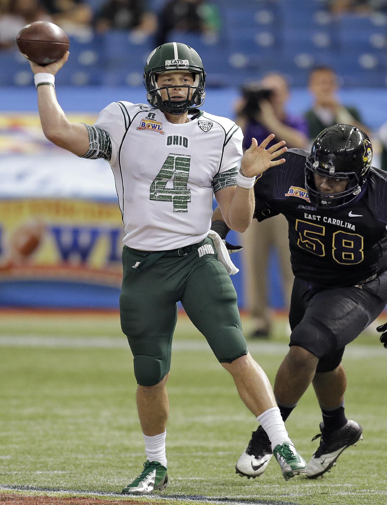 ECU wears down Ohio in Beef 'O' Brady's Bowl