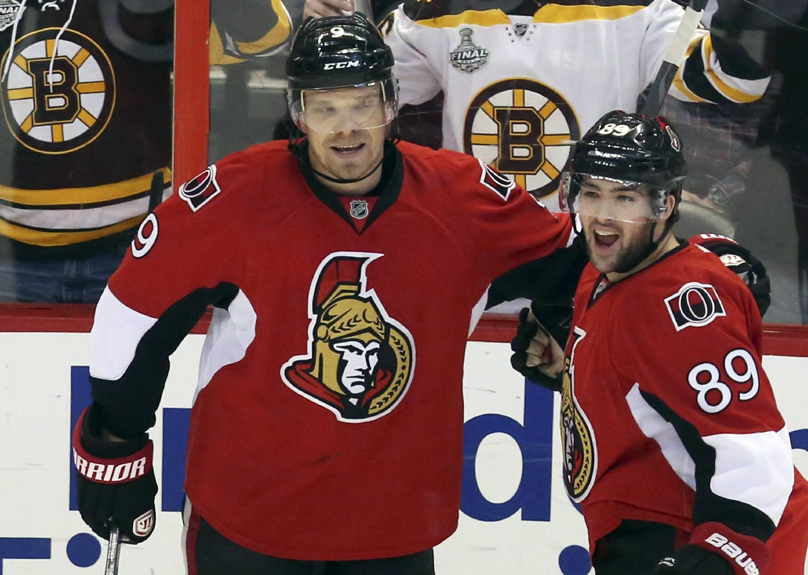 Senators slip past Bruins 4-3