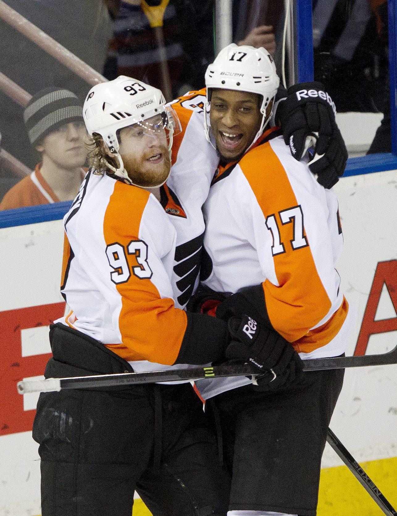 Raffl's SO goal caps Flyers rally over Oilers