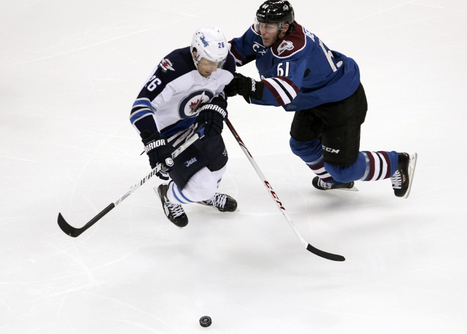 Wheeler's goal lifts Jets over Avalanche 2-1 in OT