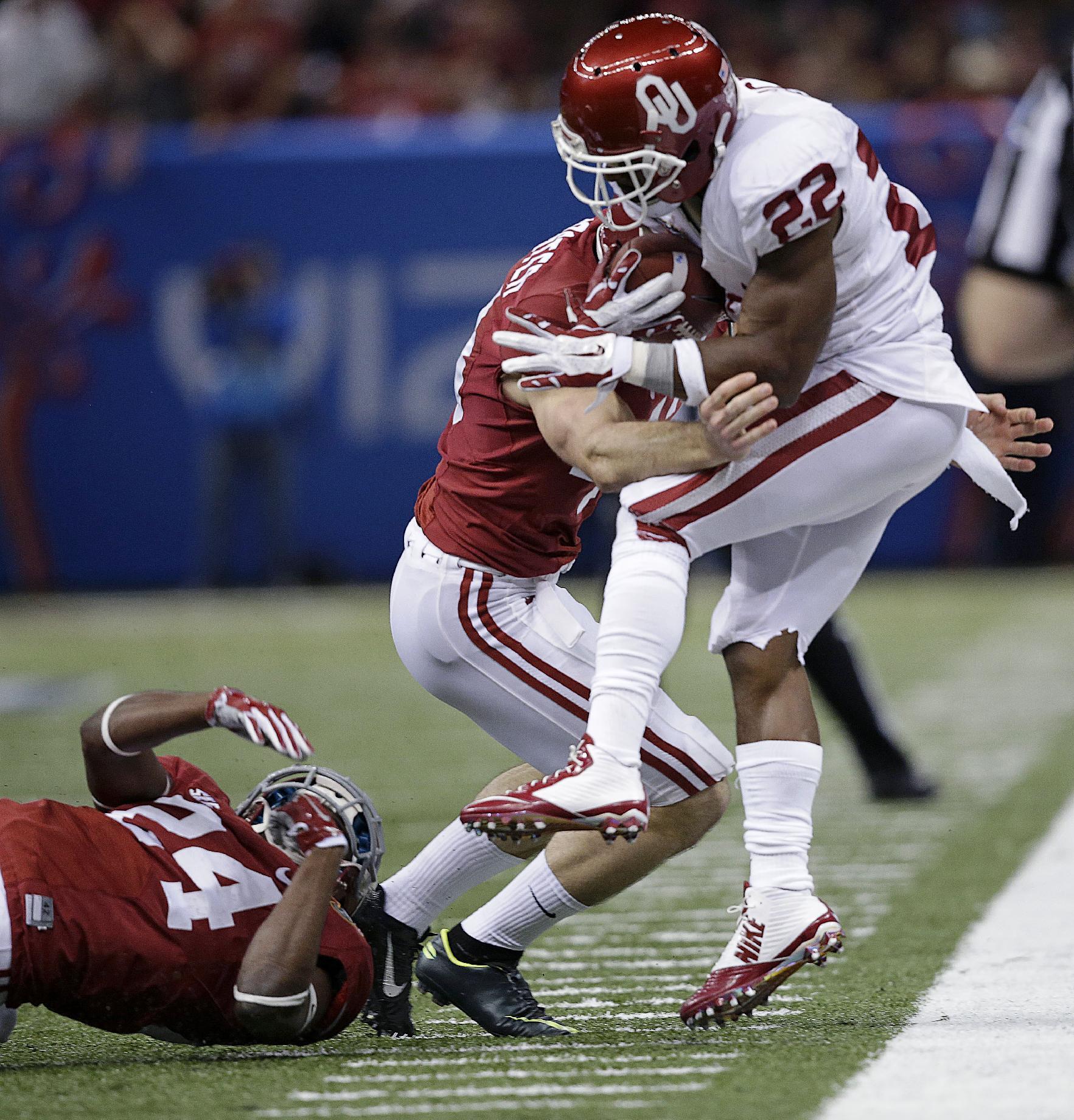Oklahoma beats Alabama 45-31 in Sugar Bowl