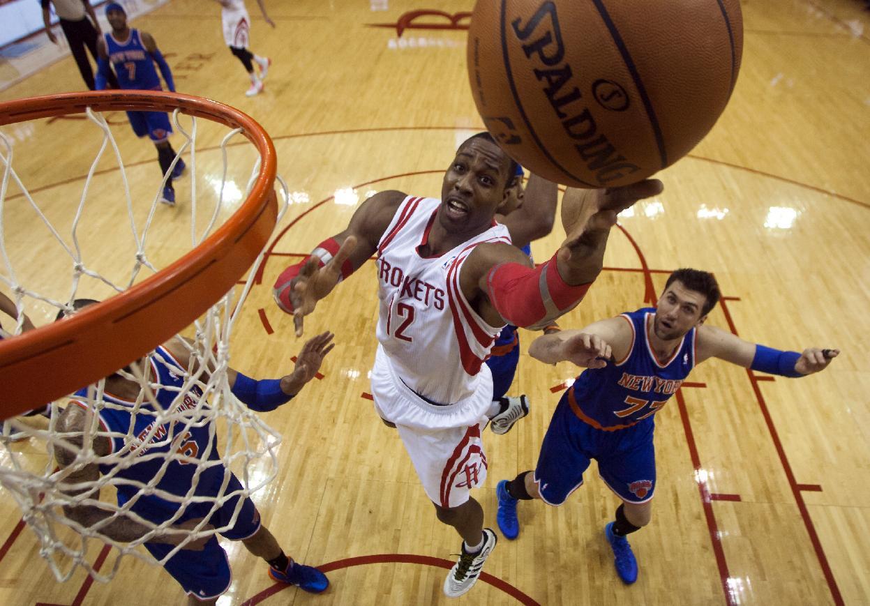 Rockets get 102-100 win over Knicks