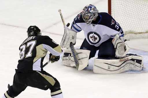 Penguins rally by weary Winnipeg, 6-5