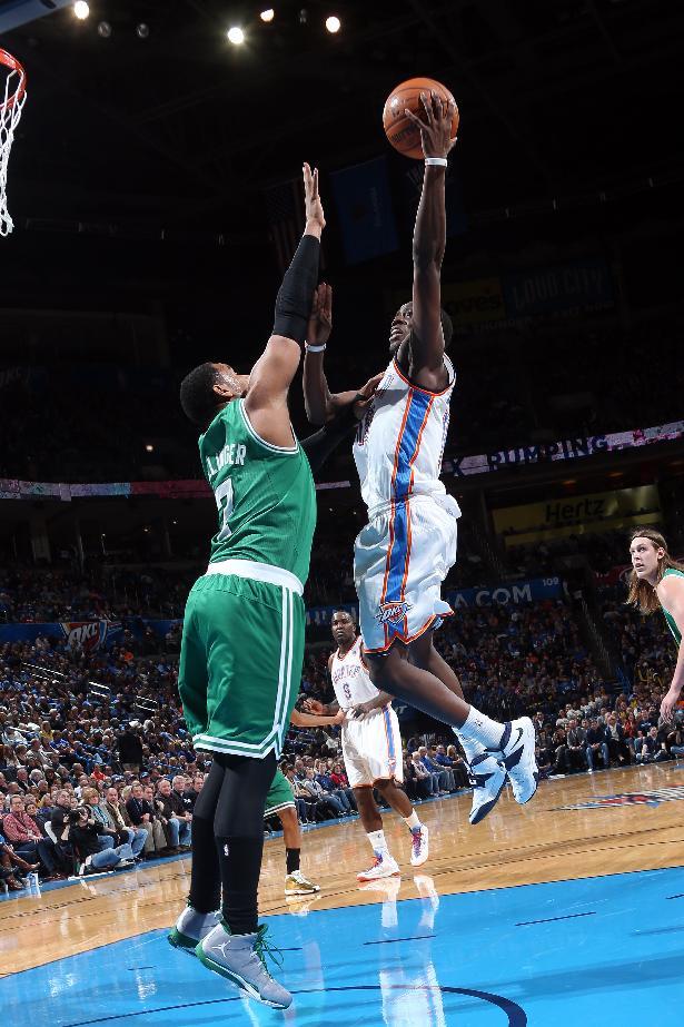 Jackson, Durant lead Thunder over Celtics 119-96