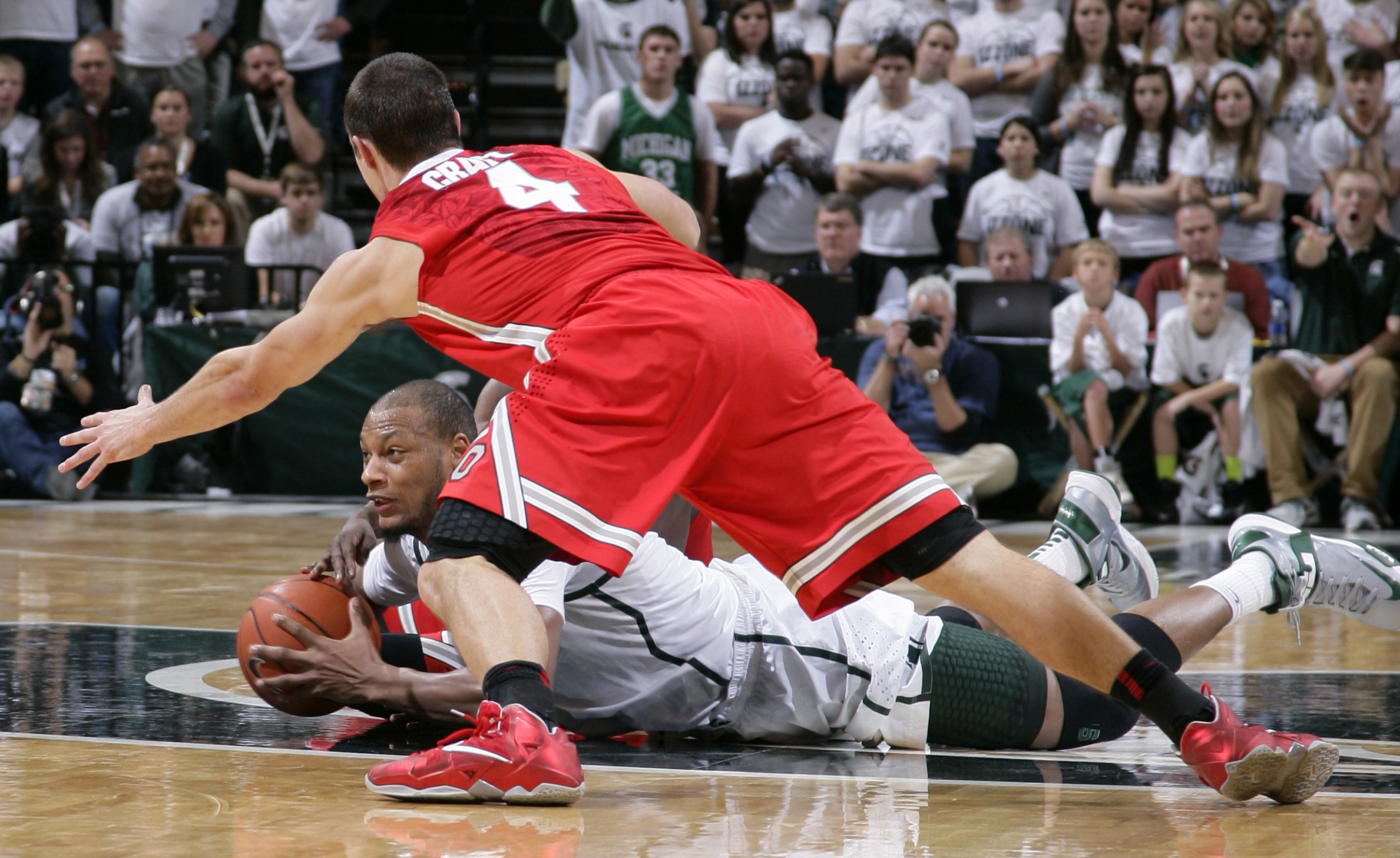 No. 5 Michigan State beats No. 3 Ohio State 72-68
