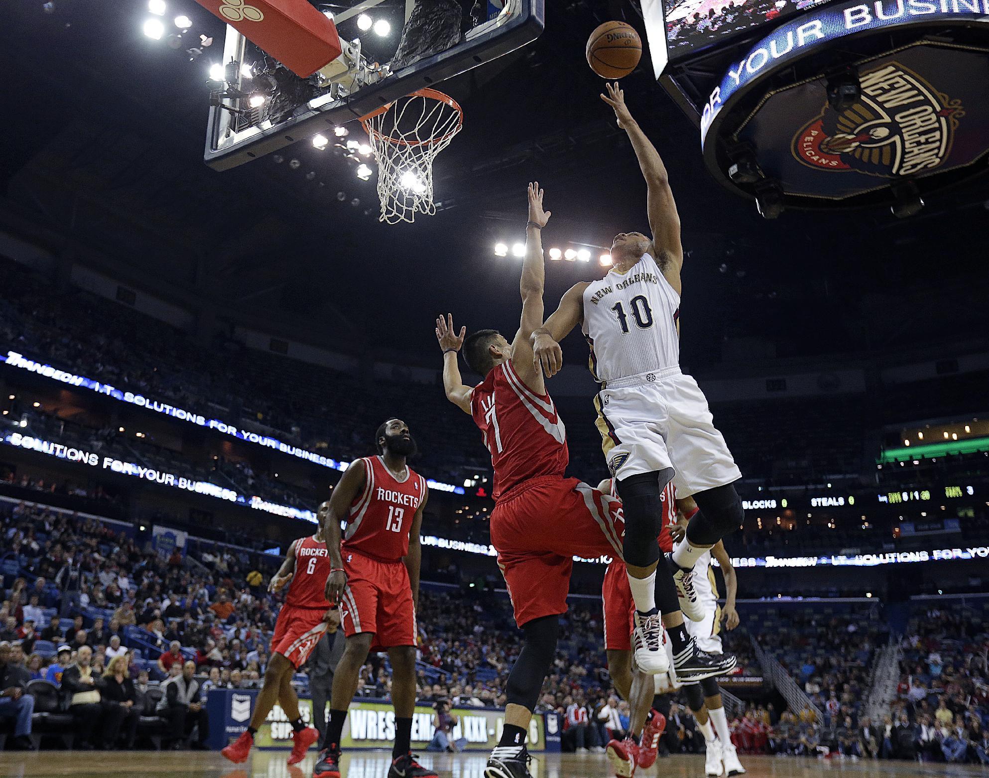 Harden lifts Rockets over Pelicans, 103-100