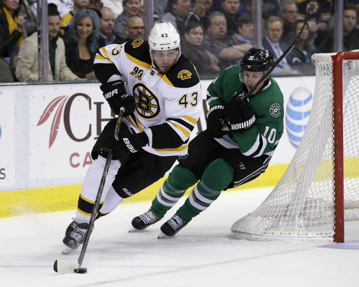 Lucic helps Bruins skate past Stars 4-2