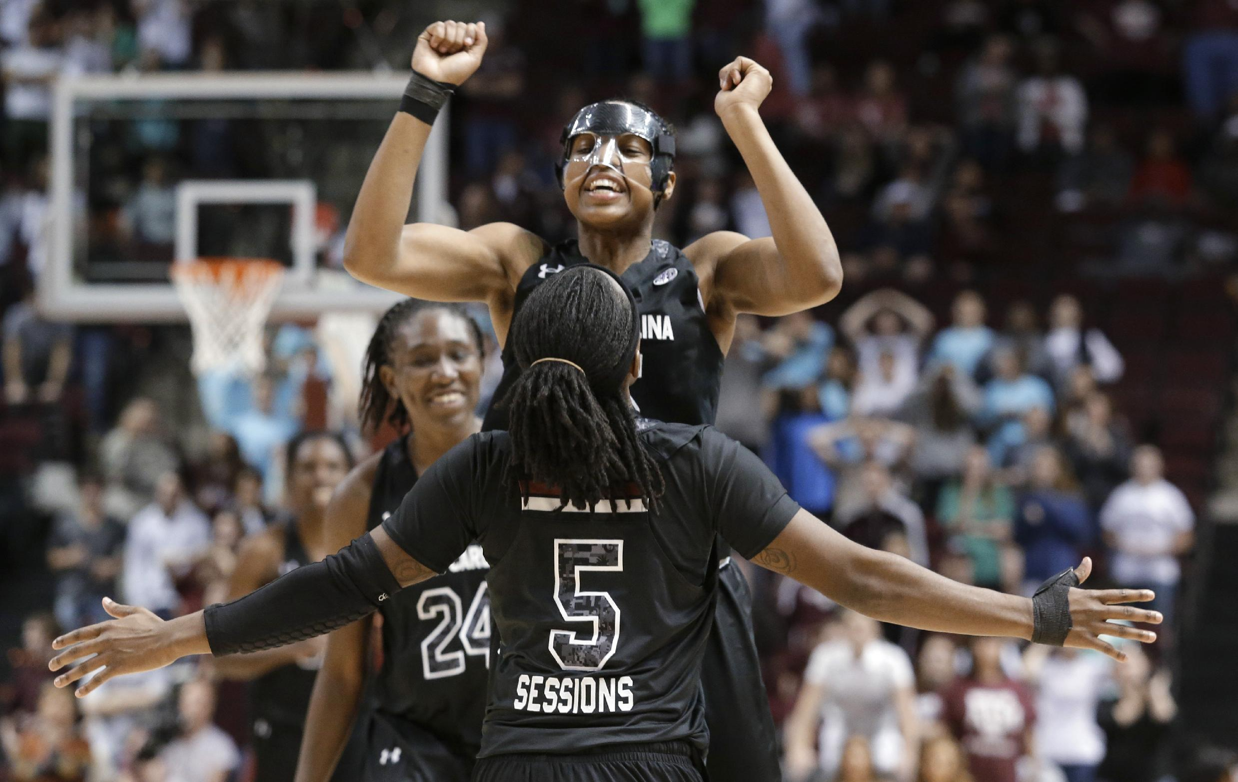Texas A&M women edge South Carolina 67-65 in OT