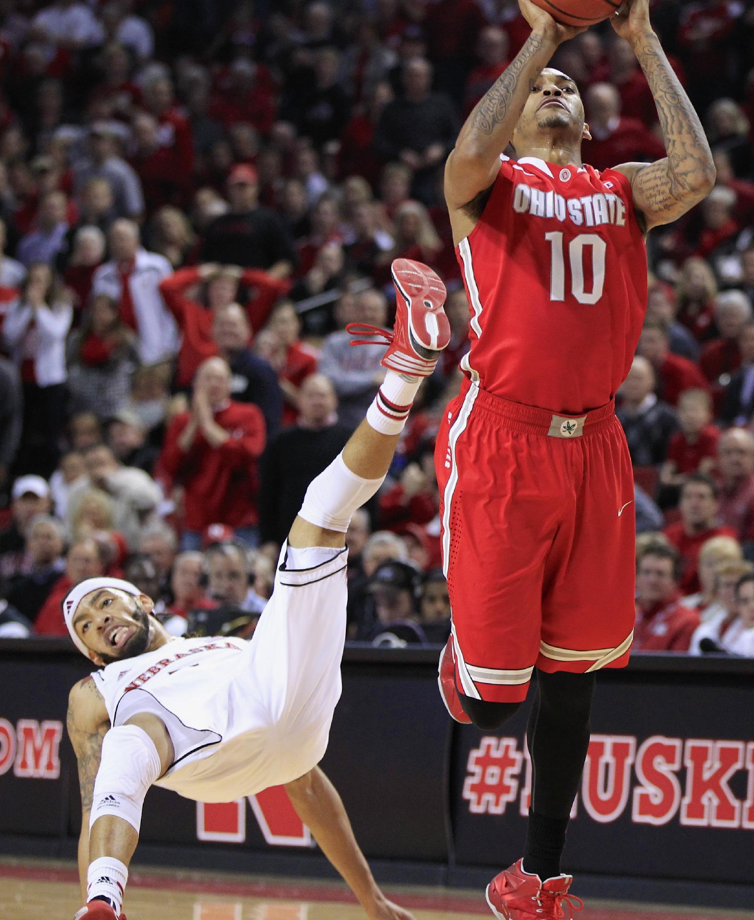 Nebraska upsets struggling No. 17 Ohio State 68-62
