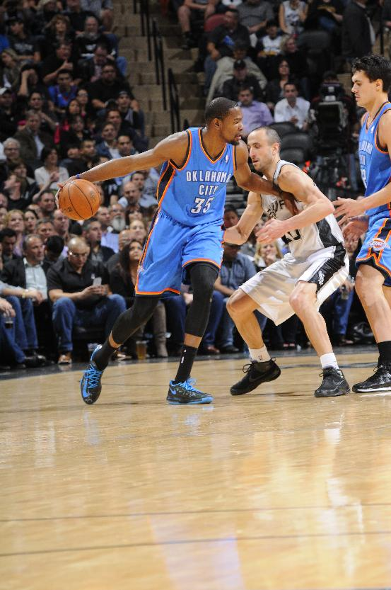 Streaking Thunder star Durant sits out vs Celtics