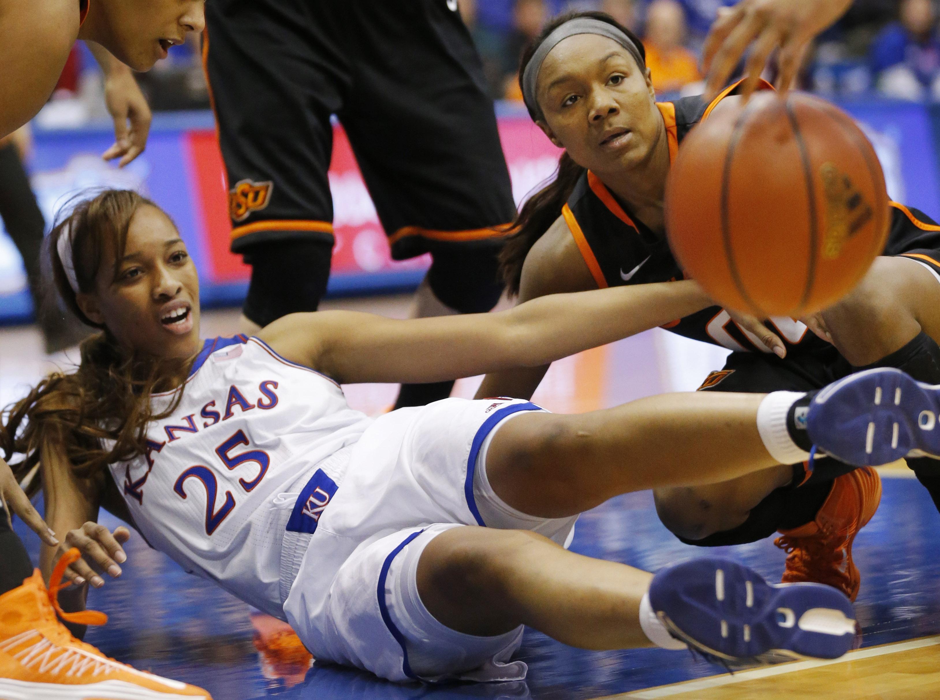 No. 8 Oklahoma State women top Kansas 64-56