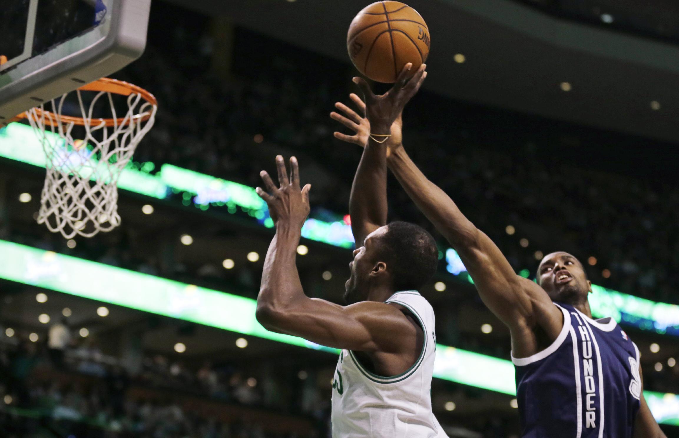 No Durant, but Thunder still beat Celtics 101-83