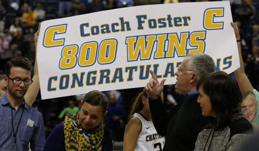 Foster wins 800th, Chattanooga tops Samford 63-50