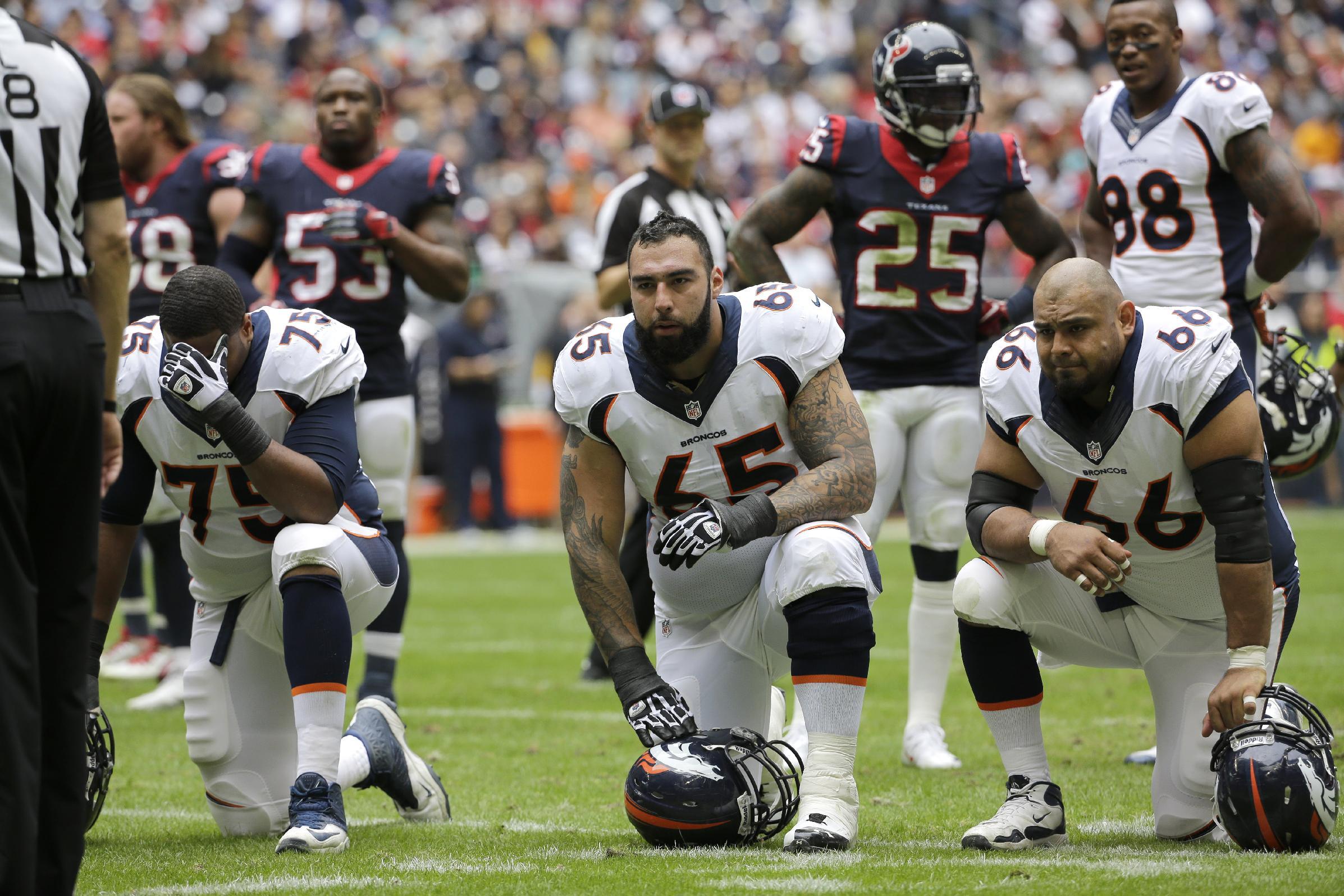 Broncos' quiet O-line makes loud statement