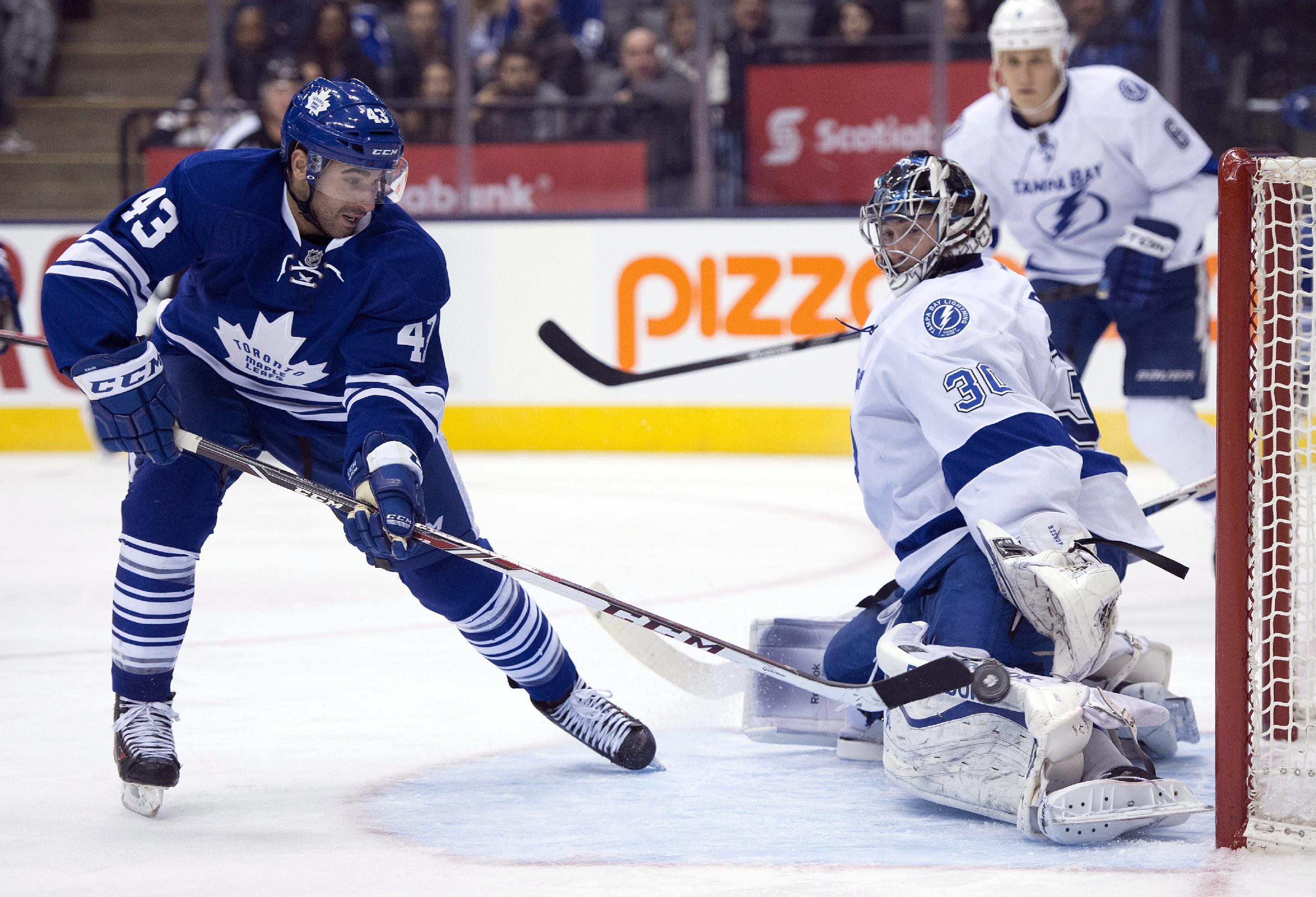 Kadri, van Riemsdyk lift Leafs over Lightning 3-2