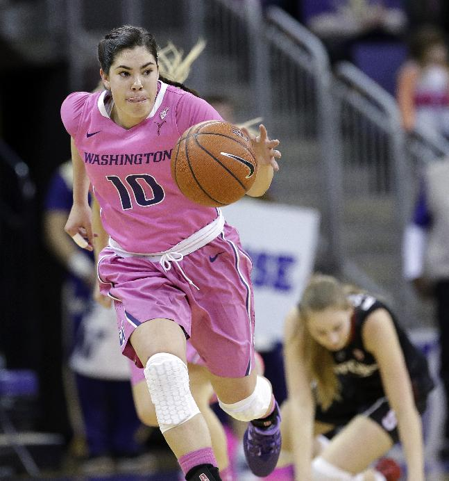 Washington women knock off No. 3 Stanford 87-82