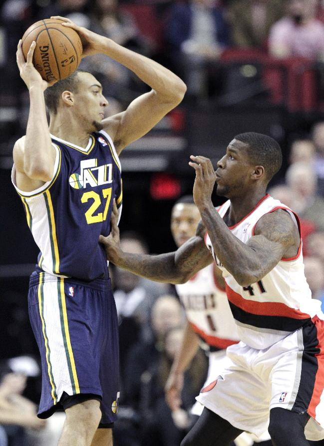 Lillard has 28 and Blazers down Jazz 102-94
