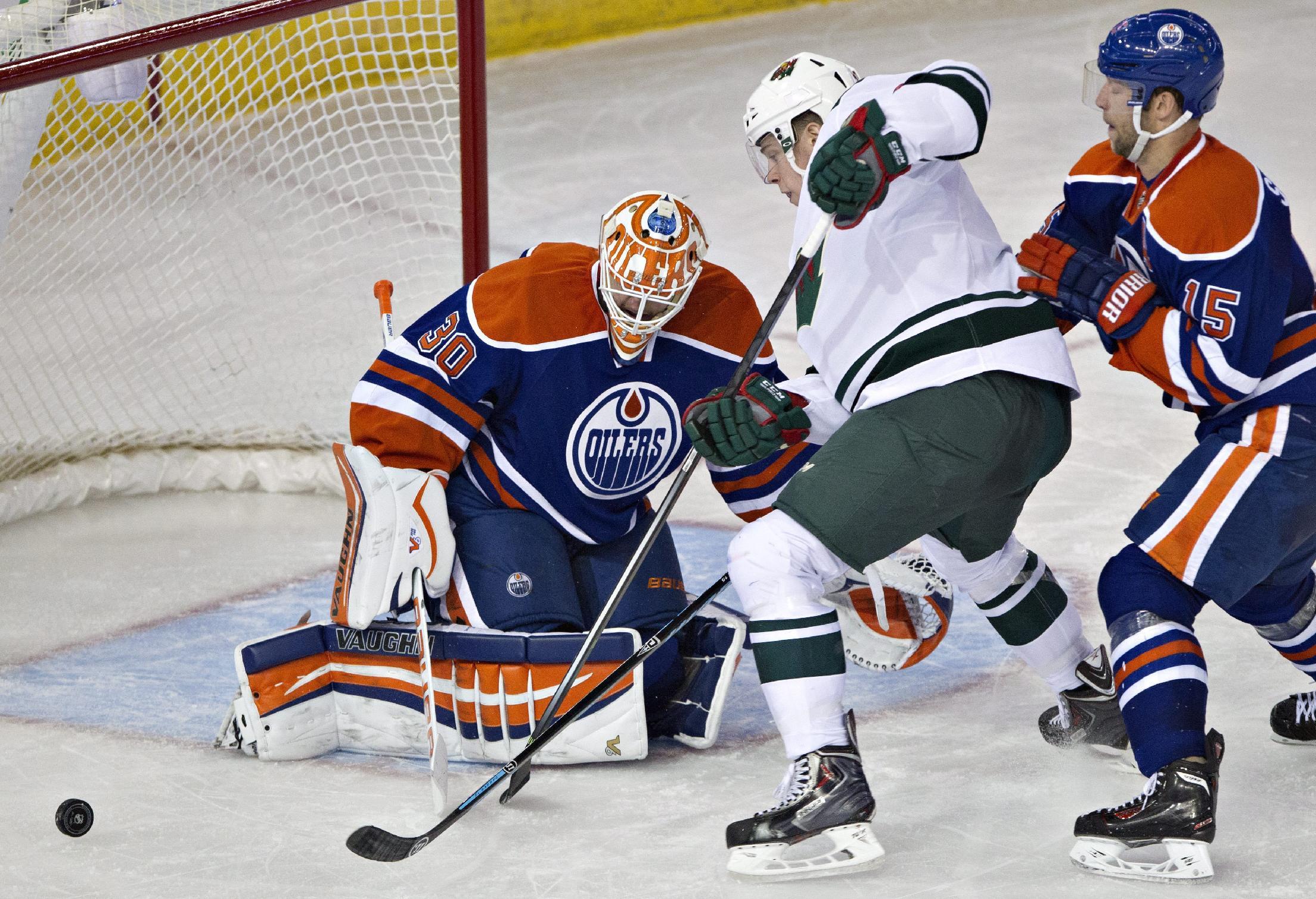 Kuemper has 21 saves in Wild's 3-0 win over Oilers