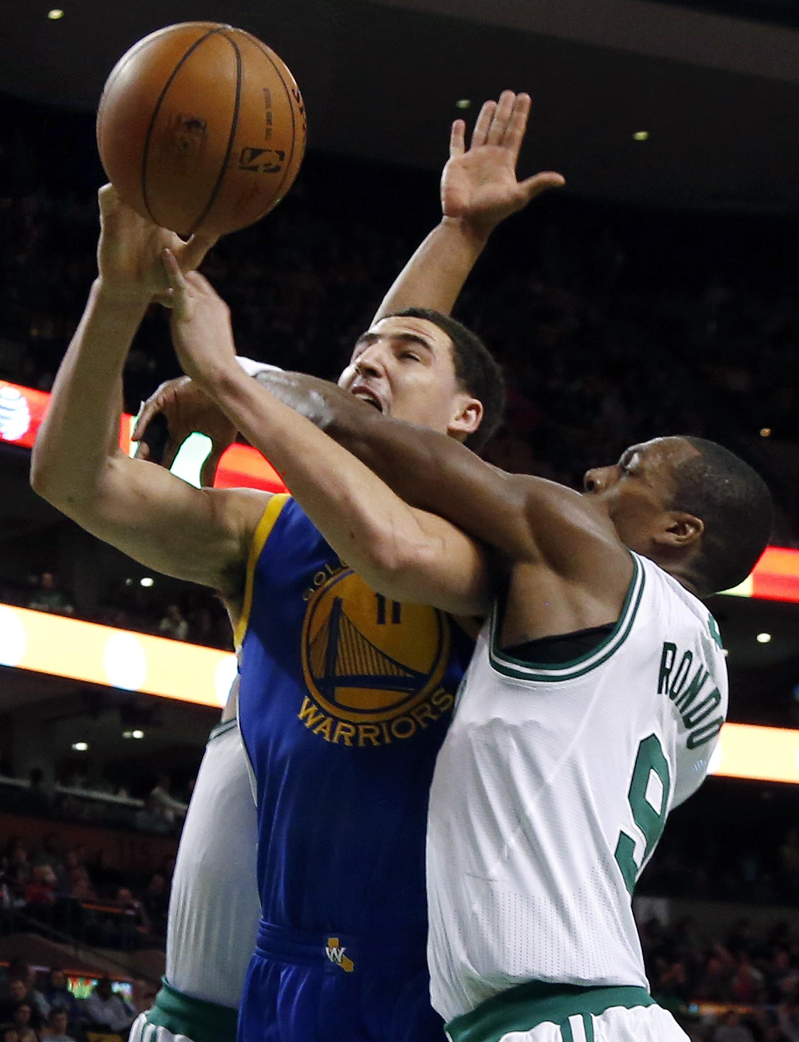 Thompson, Lee lead Warriors over Celtics 108-88