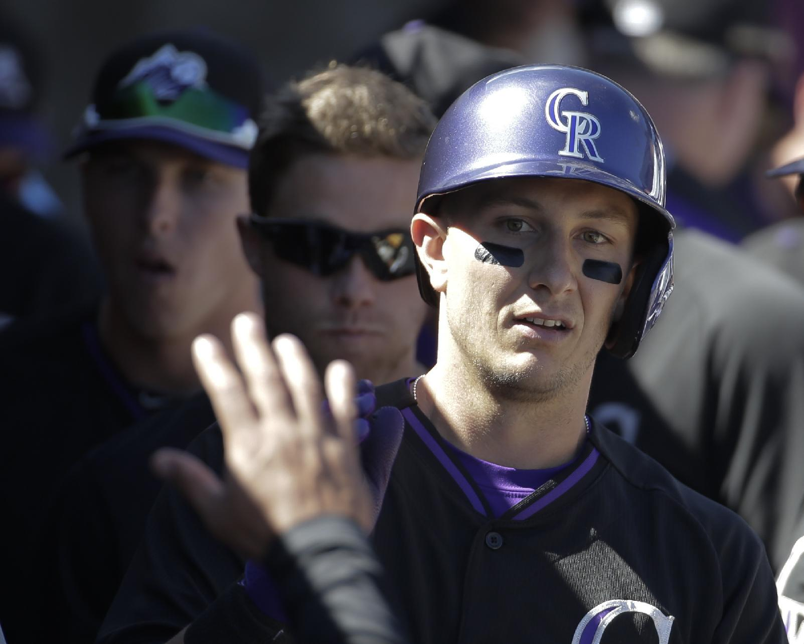Tulowitzki hit by pitch, suffers bruised calf