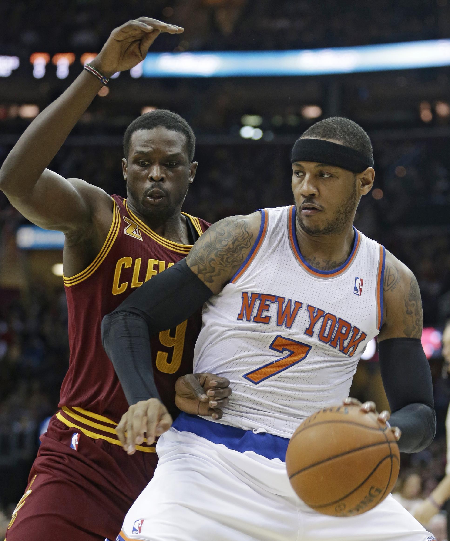Anthony's 26 points lead Knicks past Cavs, 107-97