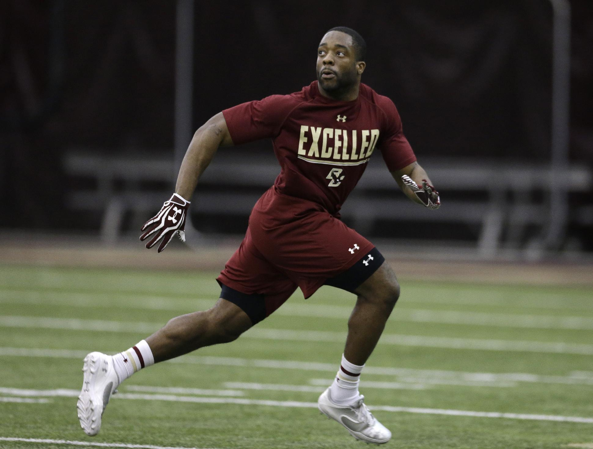 Williams improves speed at BC pro day
