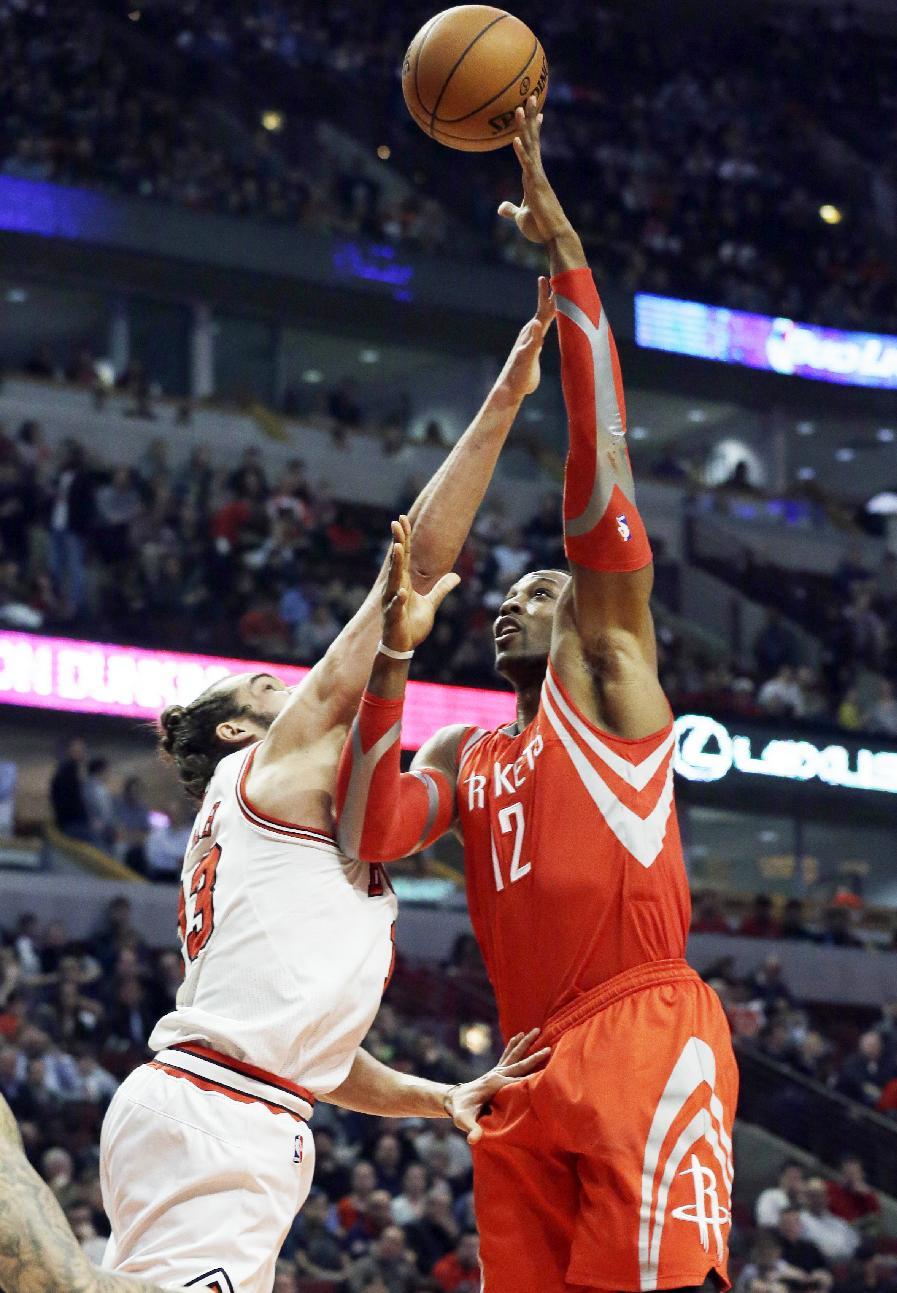 Dunleavy, Noah lead Bulls over Rockets 111-87