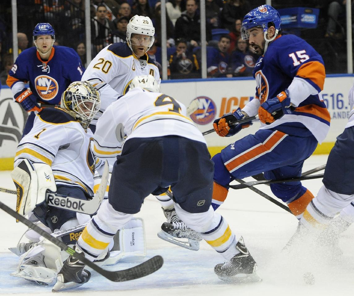 Isles score twice in 1st and 3rd, top Sabres 4-1