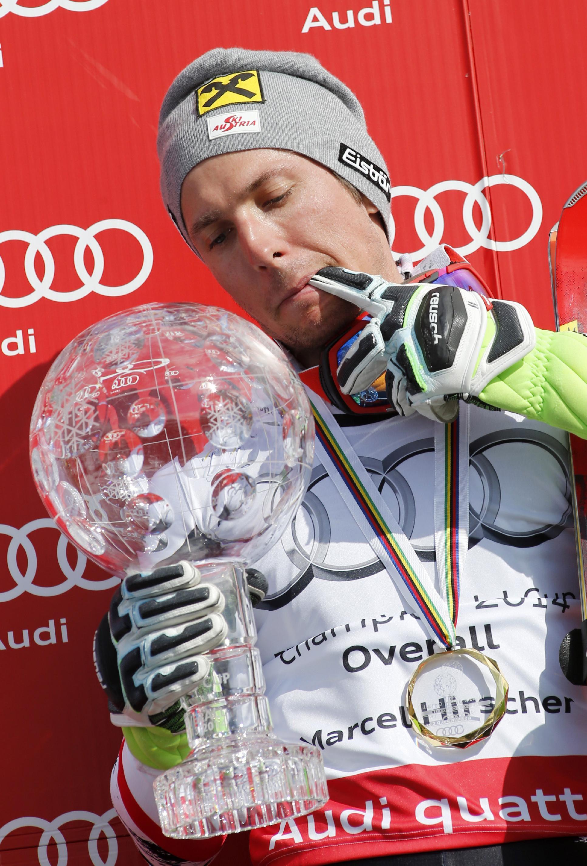 Austria's Hirscher, Fenninger sweep at WCup Finals