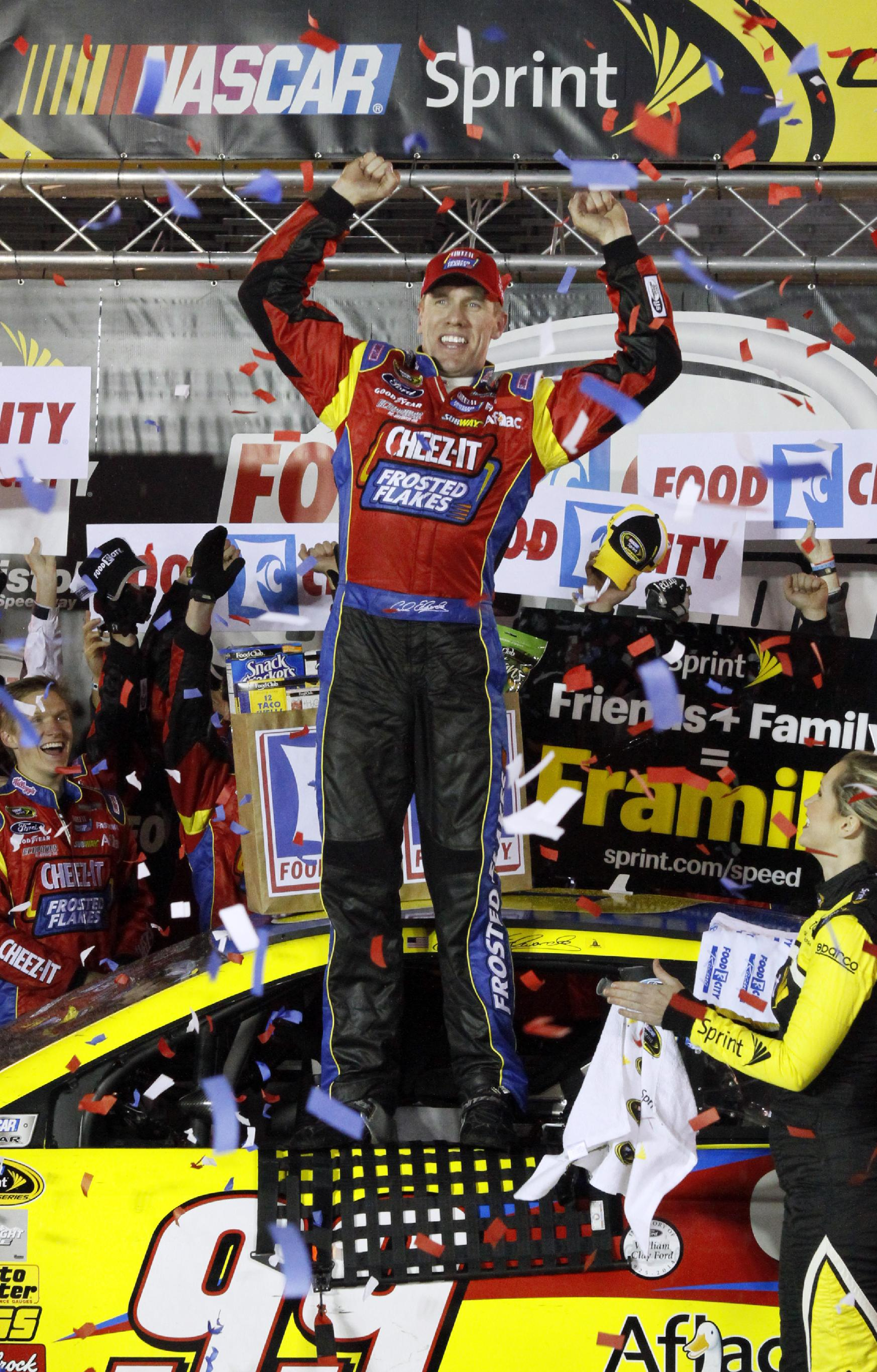 Edwards leads Ford sweep at rain-soaked Bristol