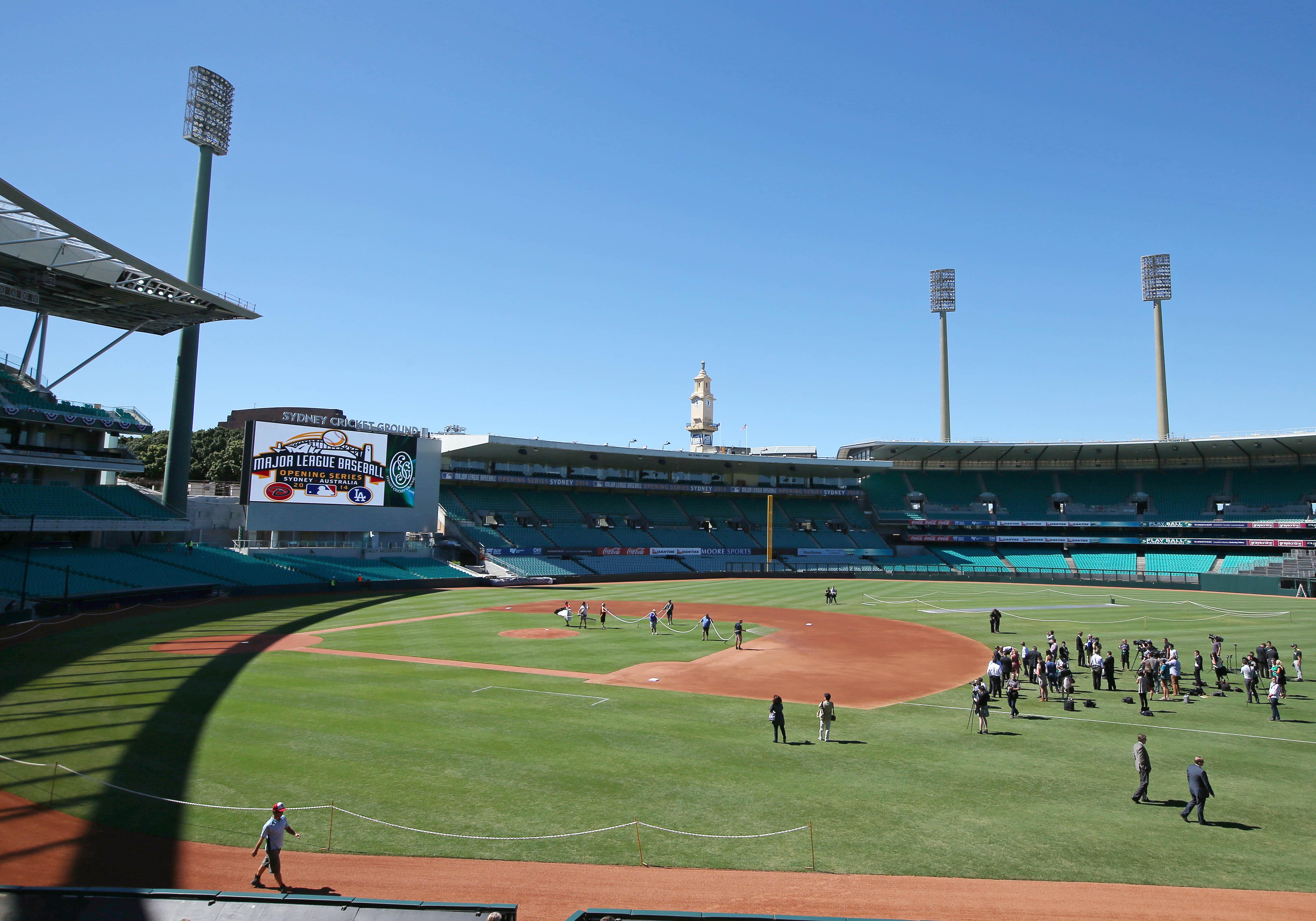 A century later, baseball's back in Australia