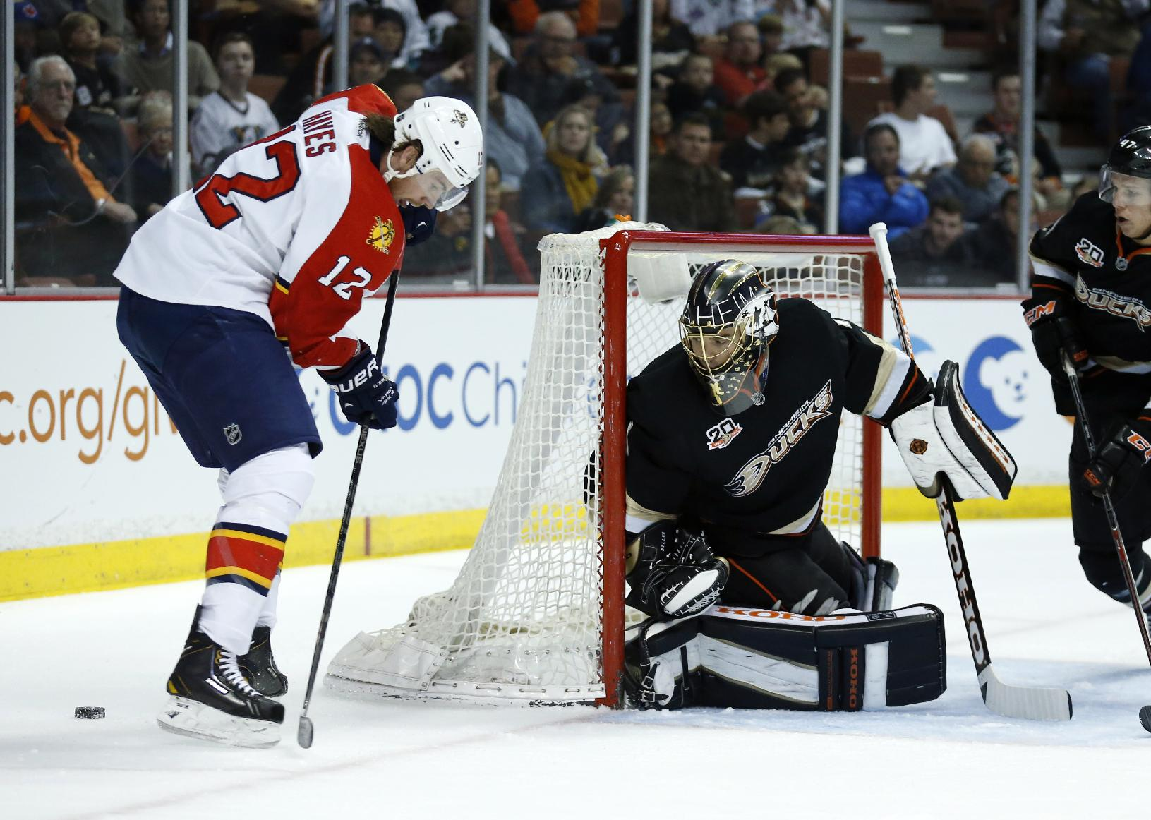 Anaheim Ducks end home skid, drill Panthers 6-2