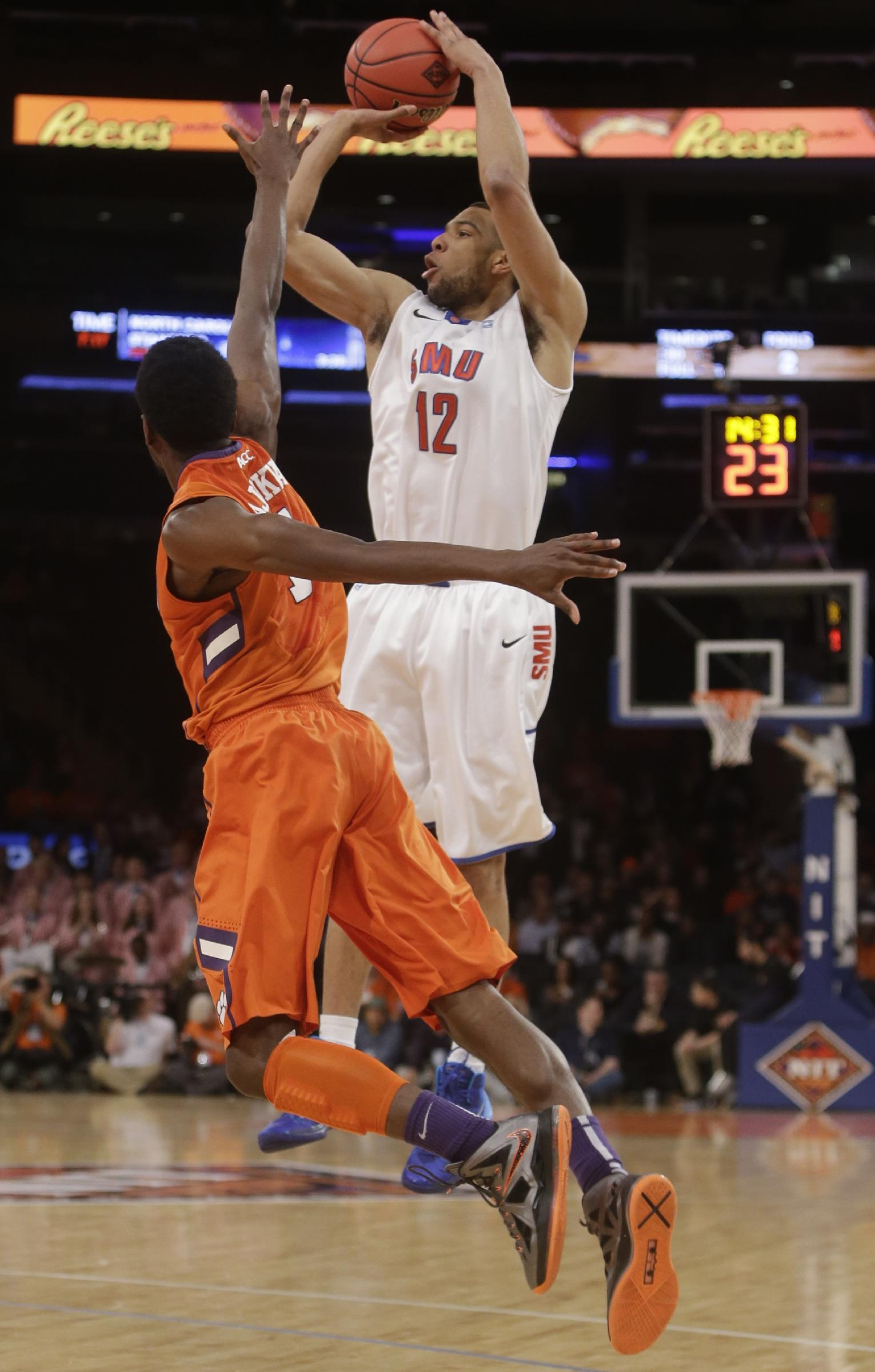 SMU rallies past Clemson 65-59 in NIT semifinals