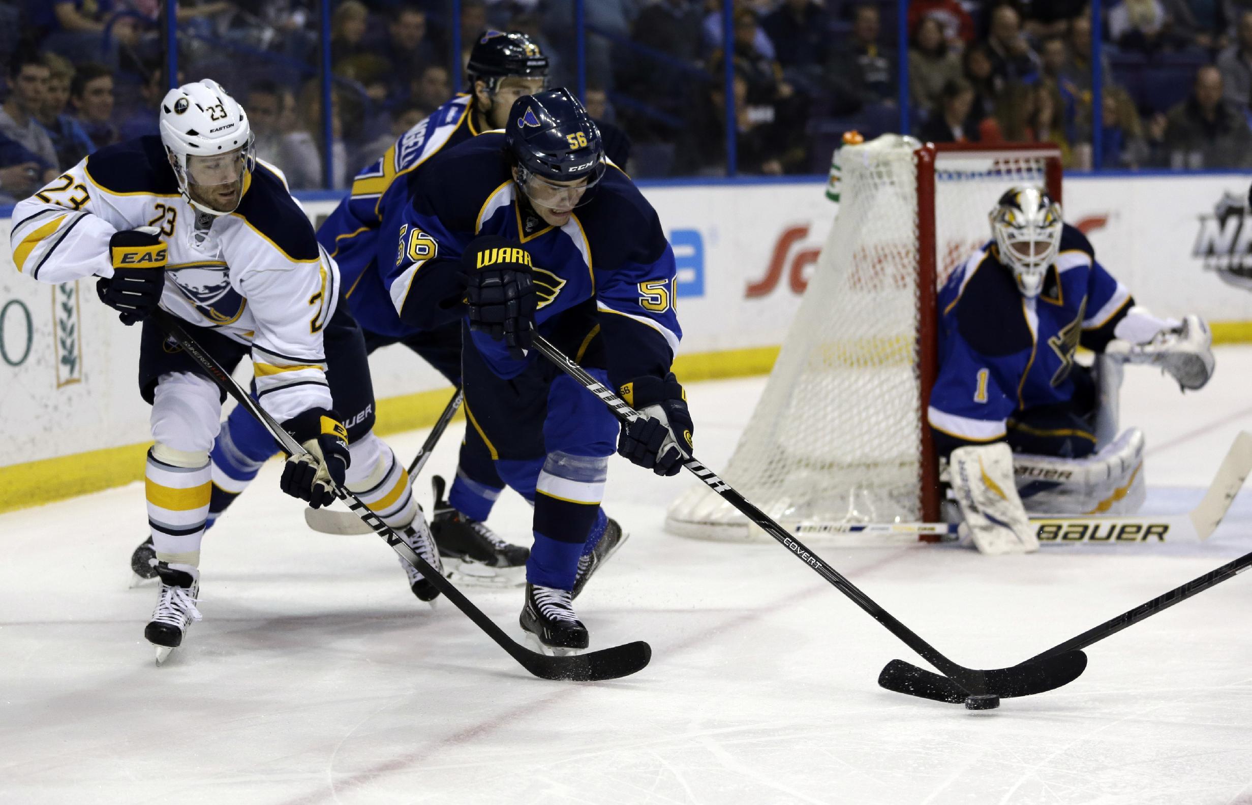 Elliott helps Blues defeat Sabres