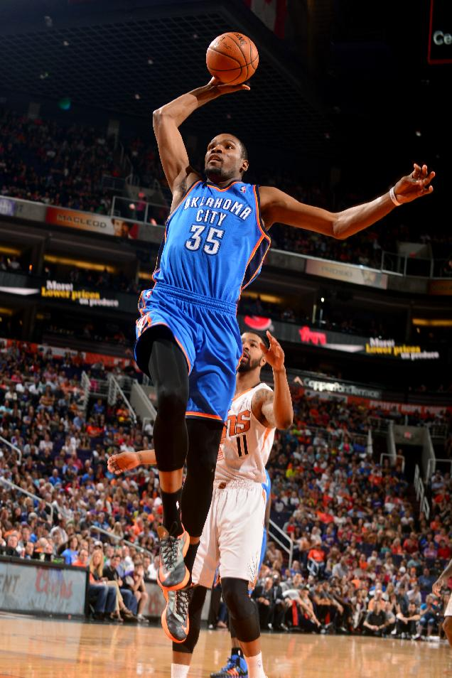 Durant scores 38 but Suns beat Thunder 122-115