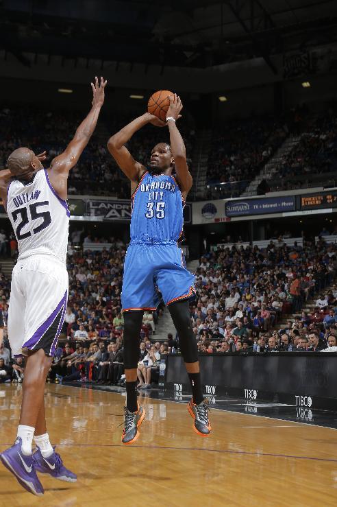 Thunder beat Kings 107-92 as Durant's streak ends